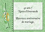 carte anniversaire pour 40 ans de mariage nanaryuliaortega blog. Black Bedroom Furniture Sets. Home Design Ideas